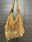 Goro Andrsquos Deer Skin Leather Shoulder Bag Authentic Carry 41x38cm