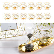 12x Geometric Candle Holder Vintage Copper Iron Geometric Wire Candle