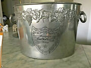 Moët And Chandon Champagne Cuvee Dom Pérignon Vintage Pewter Ice Bucket 1960-70s