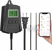 Inkbird Wifi Reptile Thermostat Temperature Controller 2 Outlet Probe Seedling
