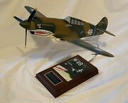 Curtis P-40b Tomahawk Signed Tex Hill C L Hill 17/1944 Extremely Rare Inventor
