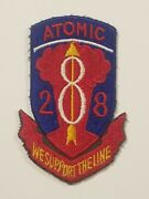 Original Post Ww2 28th Artillery Regiment Atomic We Support The Line Patch