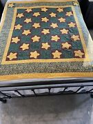 Vintage Machine Sewn Quilted Flannel Christmas Quilt 67 X 60