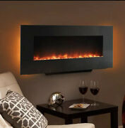 Hearth And Home 38 Inch Simplifire Black Linear Wall Mount Electric Fireplace