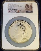 2019 10 Oz Canada Peace And Liberty Proof Silver Medal Uhr Ngc Pf70 Rev Pf Fdoi