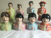 Toby Jugs.the Beatles. Two Sets .figures.sgt Pepper.bobble Heads.not Bobblehead