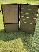 Vtg Post Wwii Air Force Abercrombie And Fitch Luggage Steamer Trunk 1940s Rare
