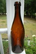 Antique Property Of Rochester Brew. Co. -boston Branch 45 Blob Top Beer Bottle