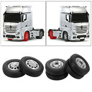 2 Pack Of Rc Rubber Tyres Set For Tamiya 114 Tractor Truck Spare Parts Accs