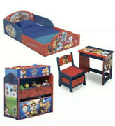 Nick Jr. Paw Patrol 4-piece Room-in-a-box Bedroom Set Toddler Bedsleep And Play