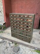 Antique 1930s Industrial Cabinet Industrial Apothecary Multi Drawer Country
