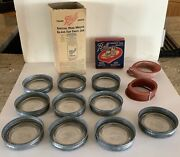 Vt Lot Wide Mouth Ball Glass Jar Lids Zinc Bands And Rubbers In Original Boxes