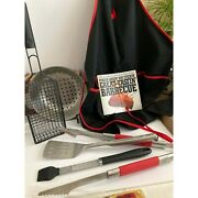 New 6 Piece Weber Grill Set And Barbeque Book