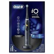 Oral-b Io Series 9 Electric Toothbrush W/ 4 Replacement Brush Heads, Black Onyx