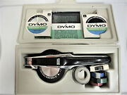 Vintage Dymo Label Maker 1550 With Case And 3 Embossing Wheels