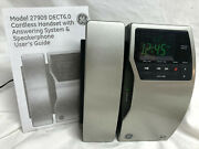 Ge Dect 6.0 Digital Cordless Phone Stainless Steel Caller Id Answering Machine