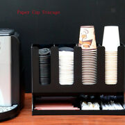 7 Compartments Coffee Condiment Organizer Cup Dispenser For Home Office Bar