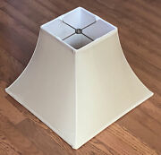Restoration Hardware large Square Bell Table Silk Lamp Shade