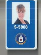 My Spy 2020 Movie Prop Production Used Cia Briefing Plastic Cia Id 09