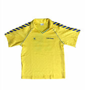 Vintage 80's Hummel Made In Poland Football Soccer Jersey Gold Star Sz Large 🔥