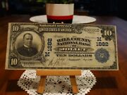 1902 10 National Currencythe Will County National Bank Of Jolietillinois Vf