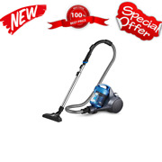 Whirl Wind Bagless Canister Vacuum Cleaner Lightweight Vac For Carpets Blue