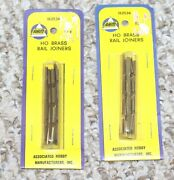 Ahm Associated Hobby Manufacturers Ho Scale Train Track 96 Brass Rail Joiners