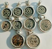 Lot Of 10 Coin In A Sterling Silver Pendant