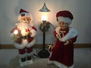 Trim A Home Animated Mr. And Mrs. Claus And Light Post Lighted Motion Adapter Used