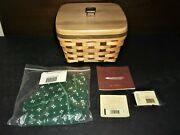 2006 Longaberger American Craft Tradition Large Berry Basket Wooden Lid - New