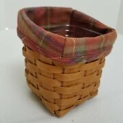 Longaberger Tapered Pencil Hostess Booking Basket Toboso Liner Protector Retired