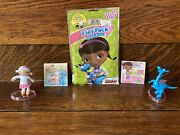 Doc Mcstuffins Gift Set Lambie Dragon Doll Figures Art Play Pack Stickers Toys