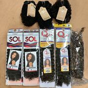 Lot Human Hair Premium Mix Outre Sol And Que By Milky Way Extensions Weaves New
