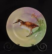 Limoges Charger Cabinet Plate Elite 1900-1914 Hand Painted Game Bird Artist Gyp