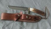 Randall Knives Model 3-6 Stag Handle Original Leather Sheath W/stone Excellent