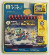 Leap Frog My First Leap Pad Leap To The Moon Book And Cartridge Pre-math New Nip