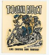 """"""" Tijuana Reject"""" Vintage Ed """"big Daddy"""" Roth Water Slide Decal"""