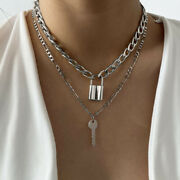Layer Vintage Key Jewelry Fashion Accessories Clavicle Chain Necklaces Pendants