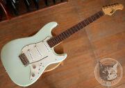 Used Moon St Type Surf Green / Vanzandt Pickup Electric Guitar Free Shipping