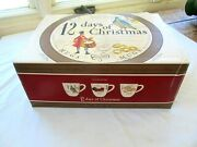New In Box - Set Of 6 Williams Sonoma 12 Days Of Christmas Mugs