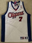 Champion Nba Los Angeles Clippers Jersey 7 Lamar Odom Sz 48 White Home Bnwt