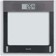 Taylor Electronic Glass Talking Bathroom Scale 440 Lb. Capacity