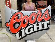 Authentic Coors Light Sterling Marlin Signed Nascar Hood . 61andrdquo X 46andrdquo