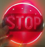 Vintage Stop Red Glass Light Ls 321 Lens For Early Model Car Auto Trucks