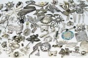 Asst Sterling Silver Pins Brooches Asst, Many Signed 25 Oz 500dwt 925 19637