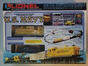 Lionel 6-11745 U.s. Navy Complete Electric Train Set - O-gauge New And Sealed