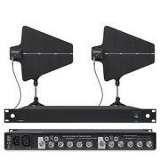 Uhf Antenna Amplifier Distribution System 470-900mhz For Shure Mic Wireless