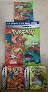Pokemon Fire Red Leaf Players Guide Complete Game Pocket Trainers Manual Box