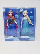 Elsa And Anna Frozen Disney Classic Doll Set 12 With Rings