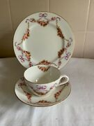 Aynsley Ribbons Bows And Swags Of Roses Trio Cup Saucer And Plate - Lot 1